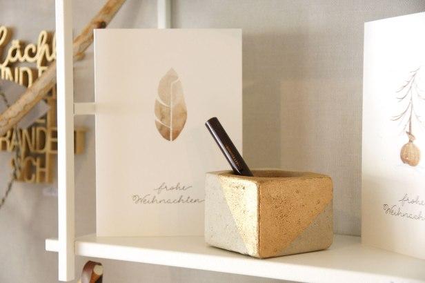 Betongefäße für Pflänzchen, Stifte und mehr